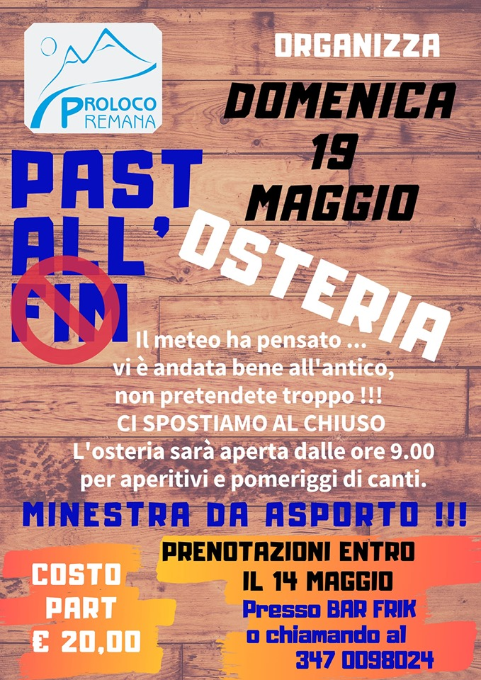 Past all'Osteria a Premana