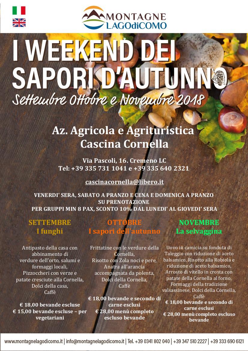 I Weekend dei Sapori d' Autunno all' Az. Agricola e Agrituristica Cascina Cornella