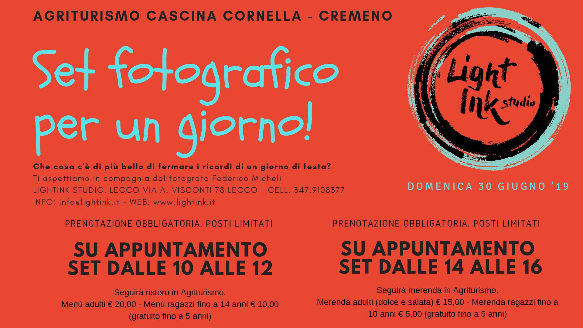 Set fotografico all'Agriturismo Cascina Cornella
