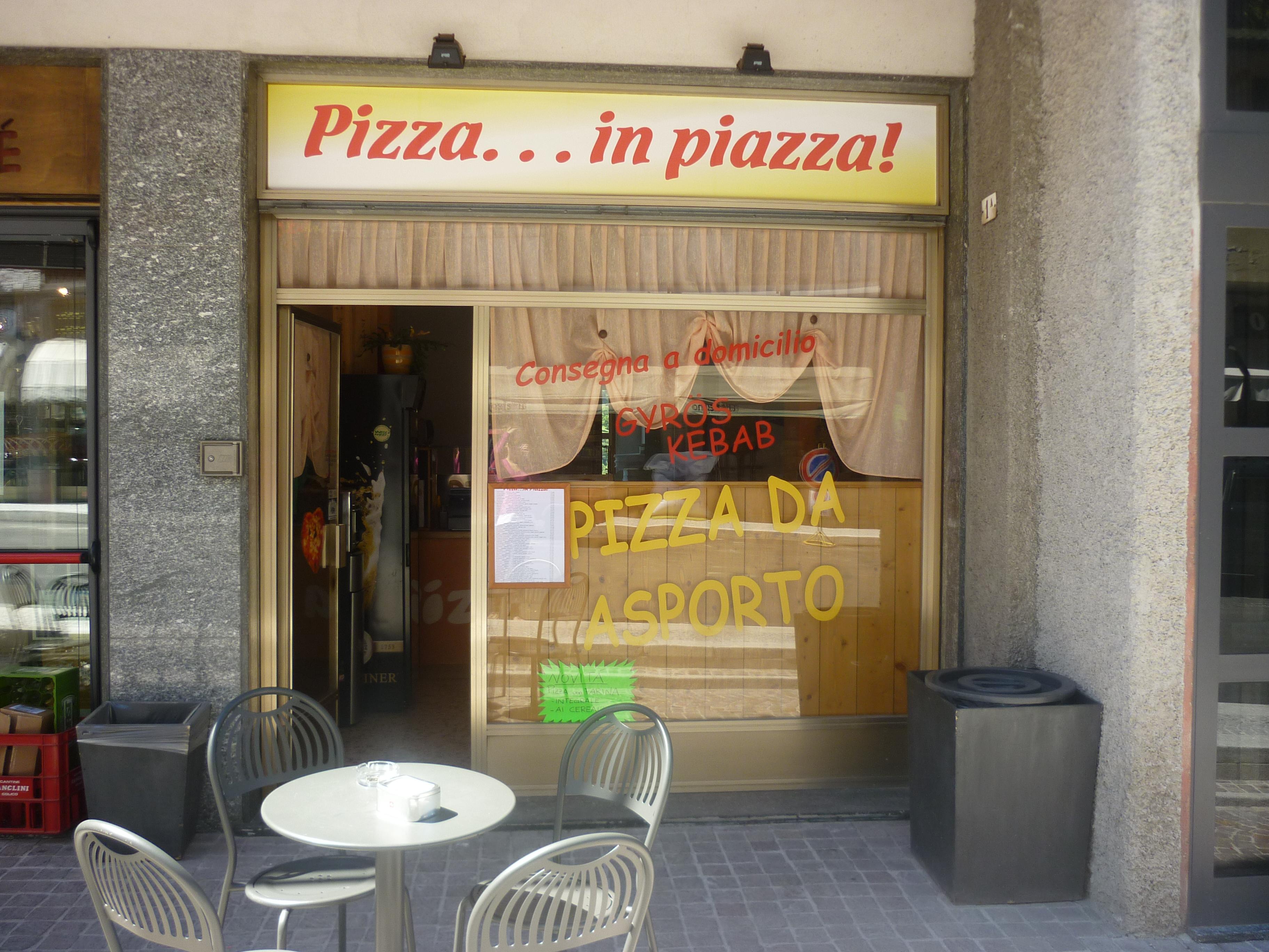 Pizza… in piazza