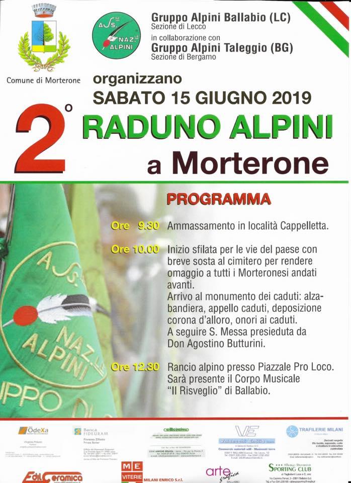 Secondo Raduno degli Alpini a Morterone — ANNULLATO