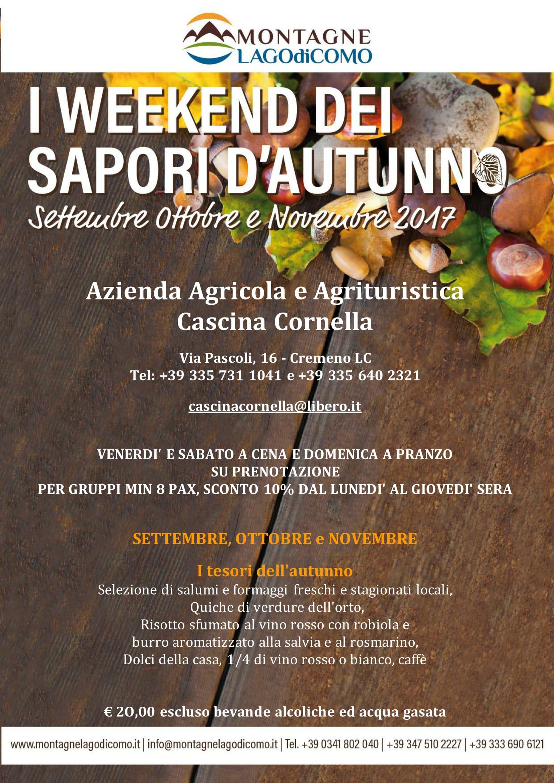 I Weekend dei Sapori d'Autunno all'Azienda Agricola e Agrituristica Cascina Cornella