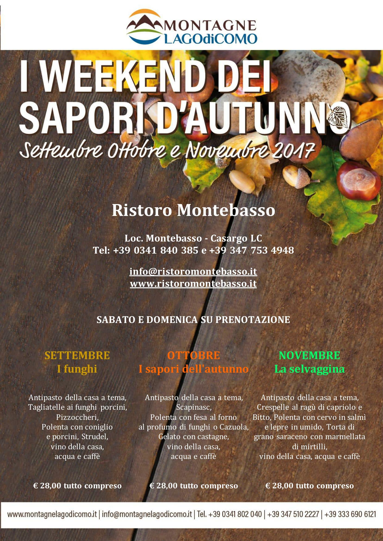 I Weekend dei Sapori d'Autunno al Ristoro Montebasso