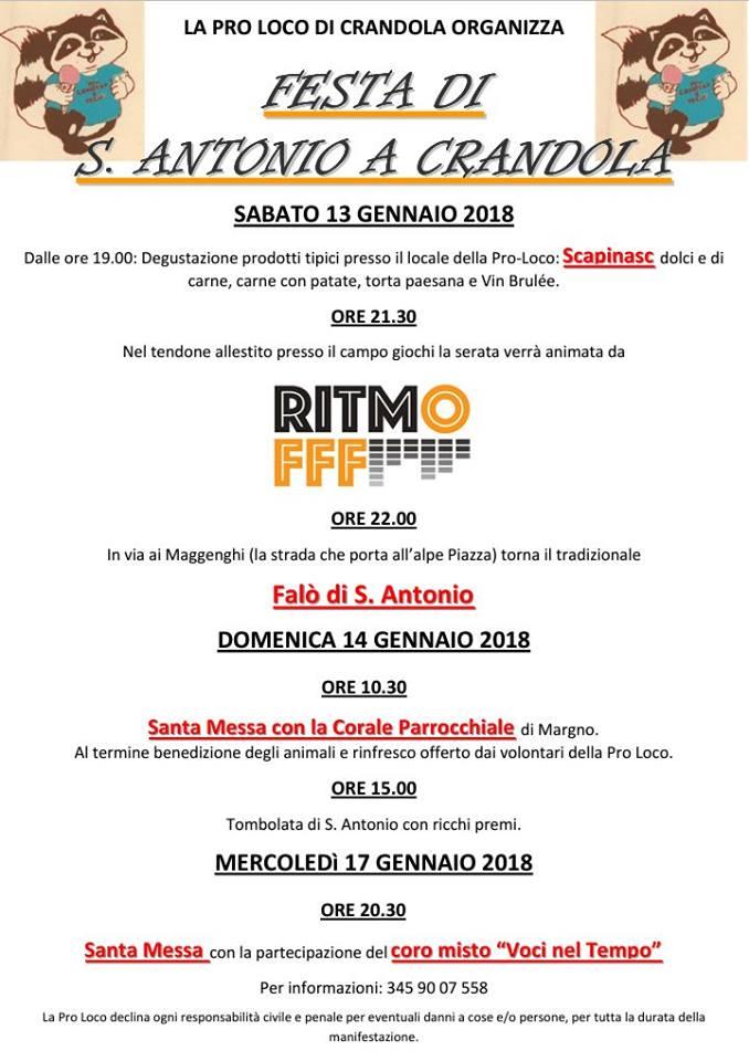 Festa di Sant'Antonio Abate a Crandola