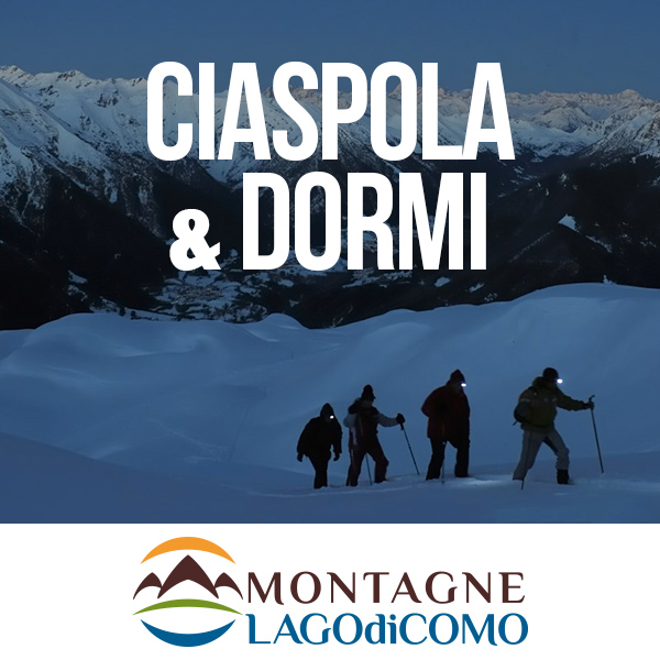 Snowshoeing&Sleep on Lake Como Mountains