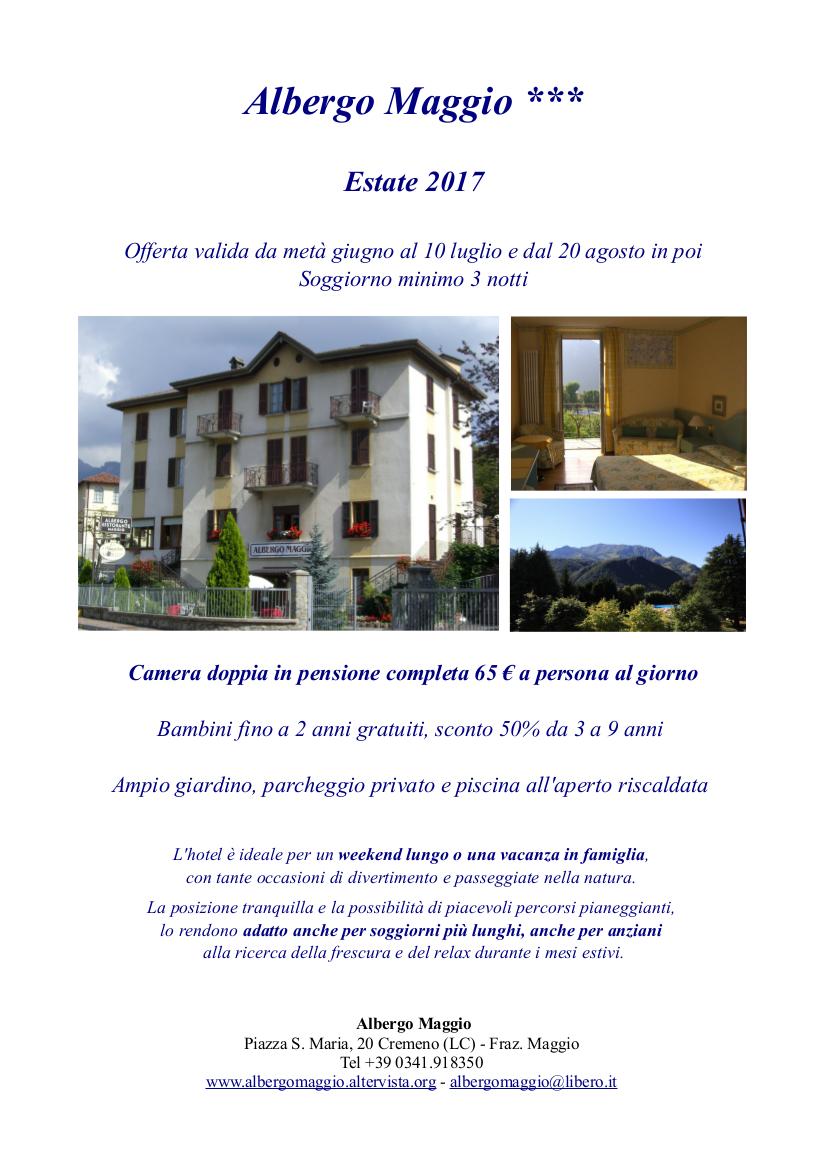 Vacanze estive all 39 albergo maggio lago di como e valsassina for Piani di pensione gratuiti