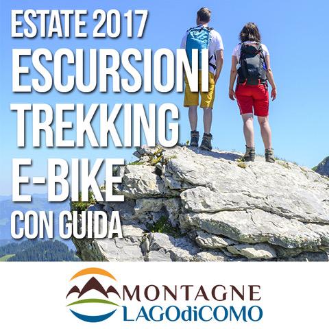 Escursioni guidate di trekking e e-bike sulle Montagne del Lago di Como