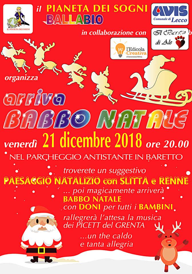 Arriva Babbo Natale a Ballabio