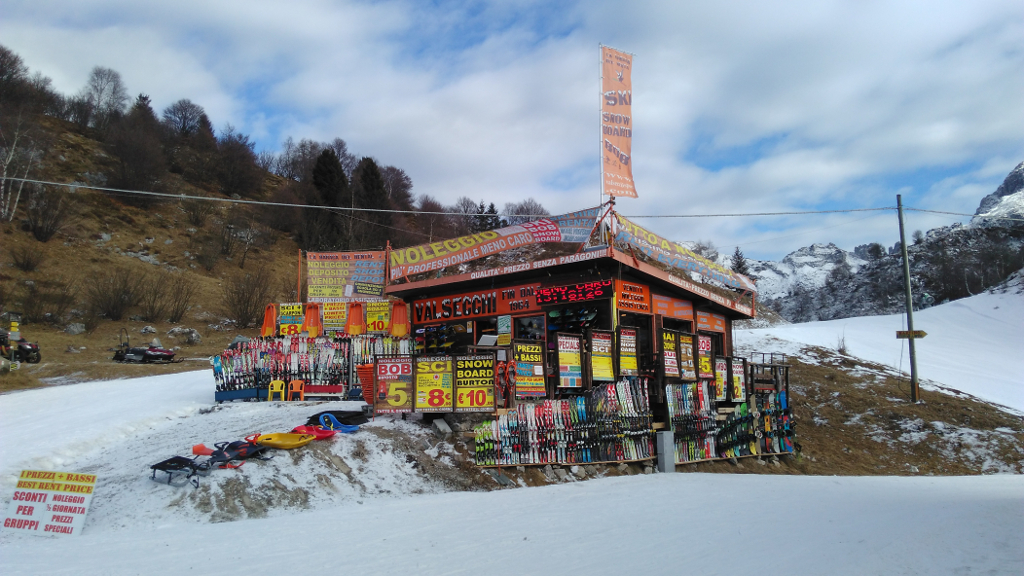 Noleggio sci e e bike valsecchi piani di bobbio lago di for Piani di coperta e costi