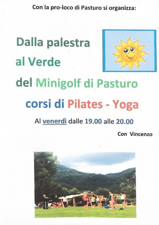 Corsi pilates e yoga al Mini Golf di Pasturo