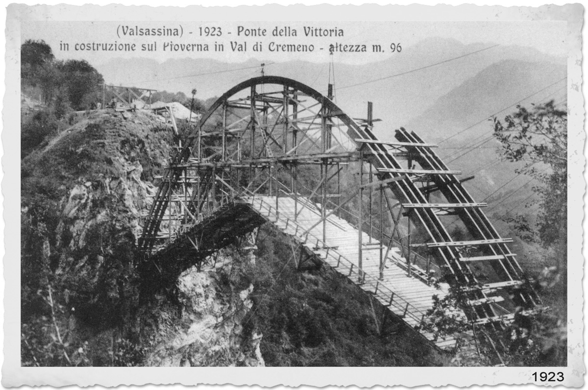 The Bridge of Victory and Moto Guzzi hydroelectric power plant