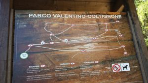 Valentino Park and Coltignone Mount itinerary