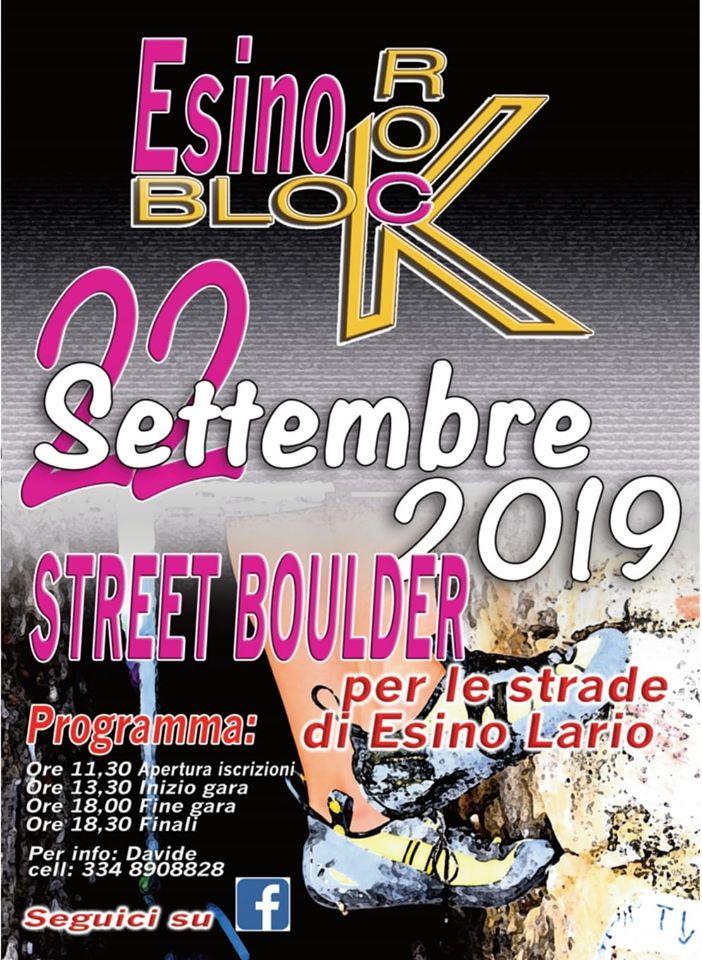 Street Boulder a Esino Lario