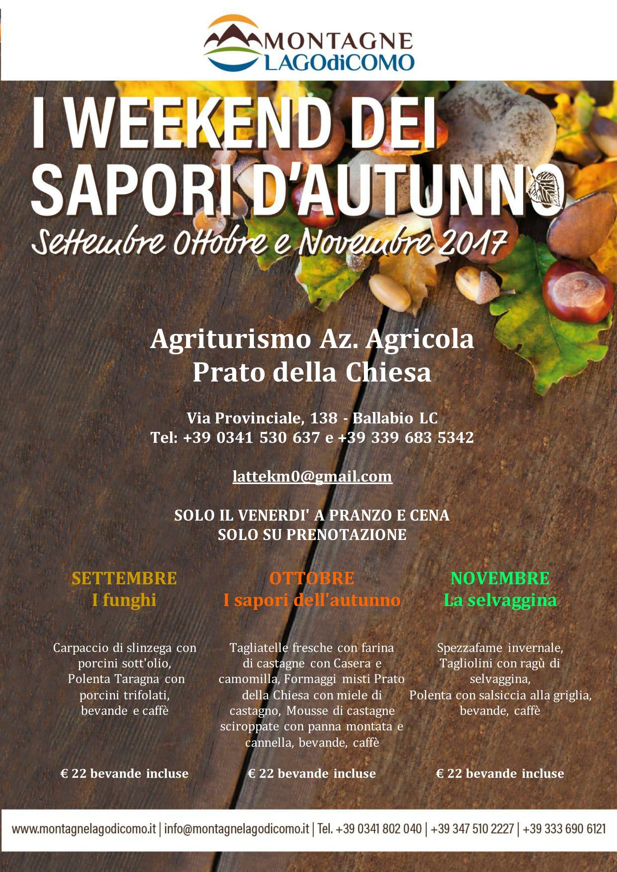 I Weekend dei Sapori d'Autunno all'Agriturismo Azienda Agricola Prato della Chiesa