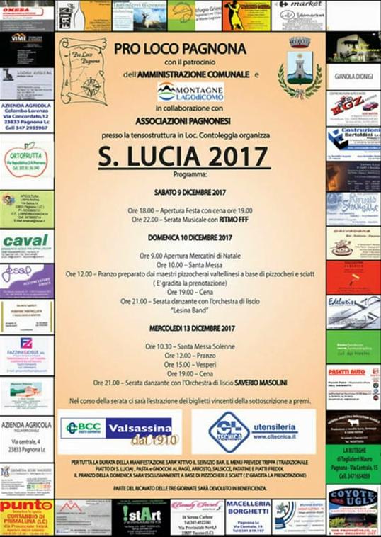 Festa Patronale di Santa Lucia a Pagnona