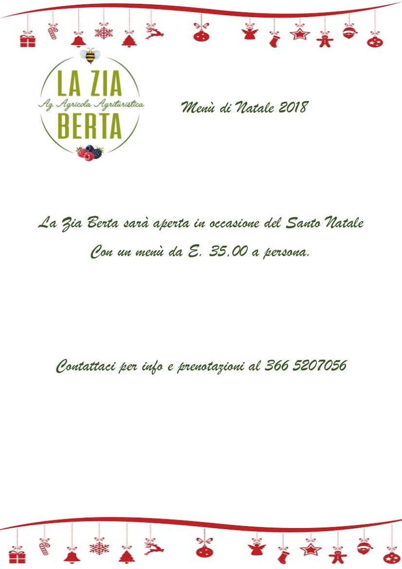 Menù di Natale all'Azienda Agricola La Zia Berta