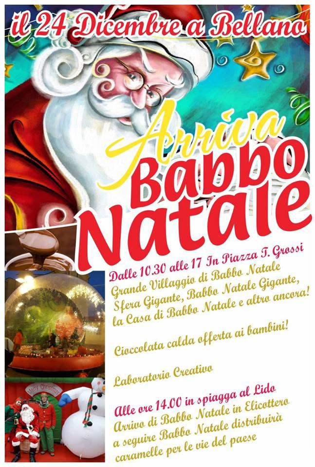 Descrizione Di Babbo Natale Per Bambini.Arriva Babbo Natale A Bellano Lago Di Como E Valsassina