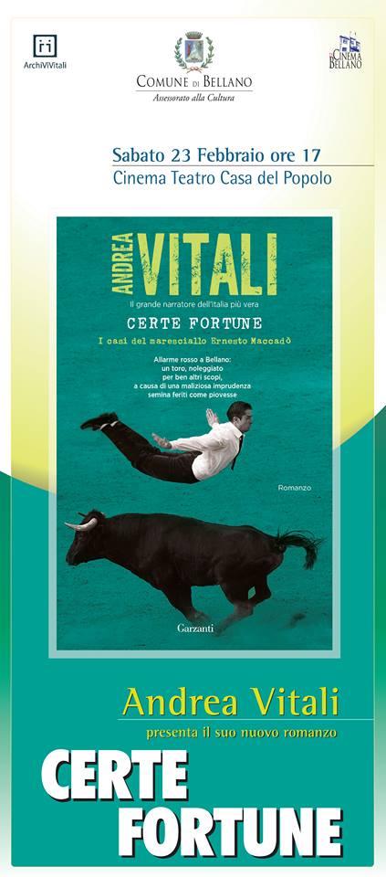 Presentazione nuovo libro di Andrea Vitali a Bellano