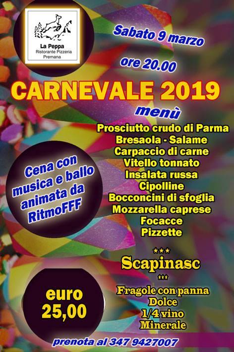 Festa di Carnevale al Ristorante La Peppa