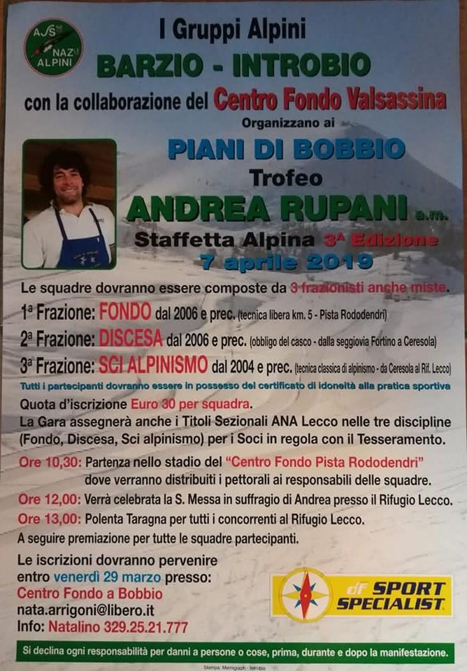 Trofeo Andrea Rupani ai Piani di Bobbio