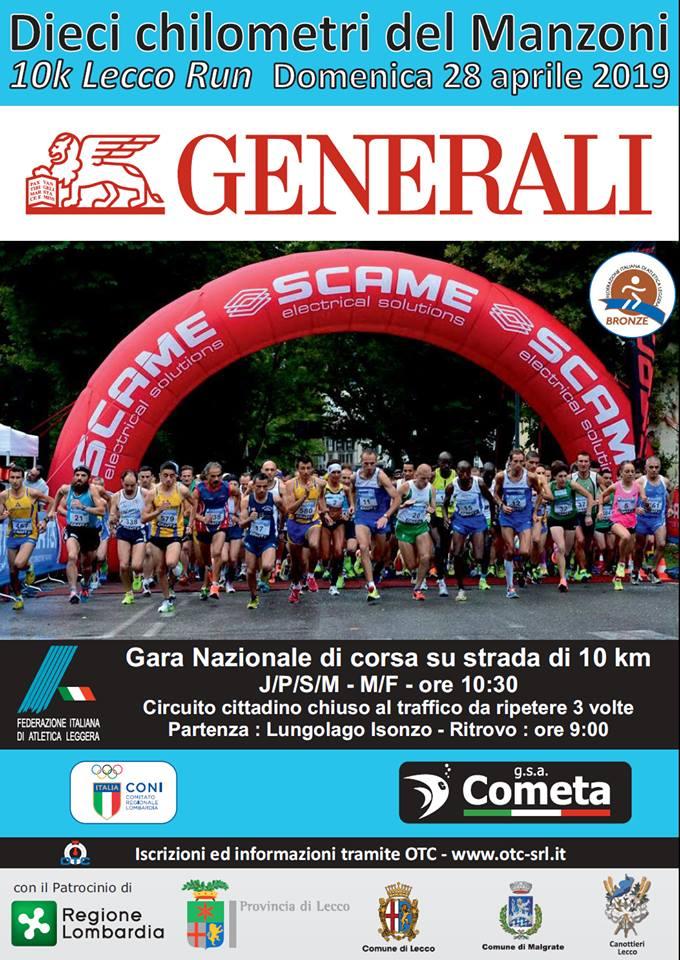 Gara Dieci km del Manzoni a Lecco