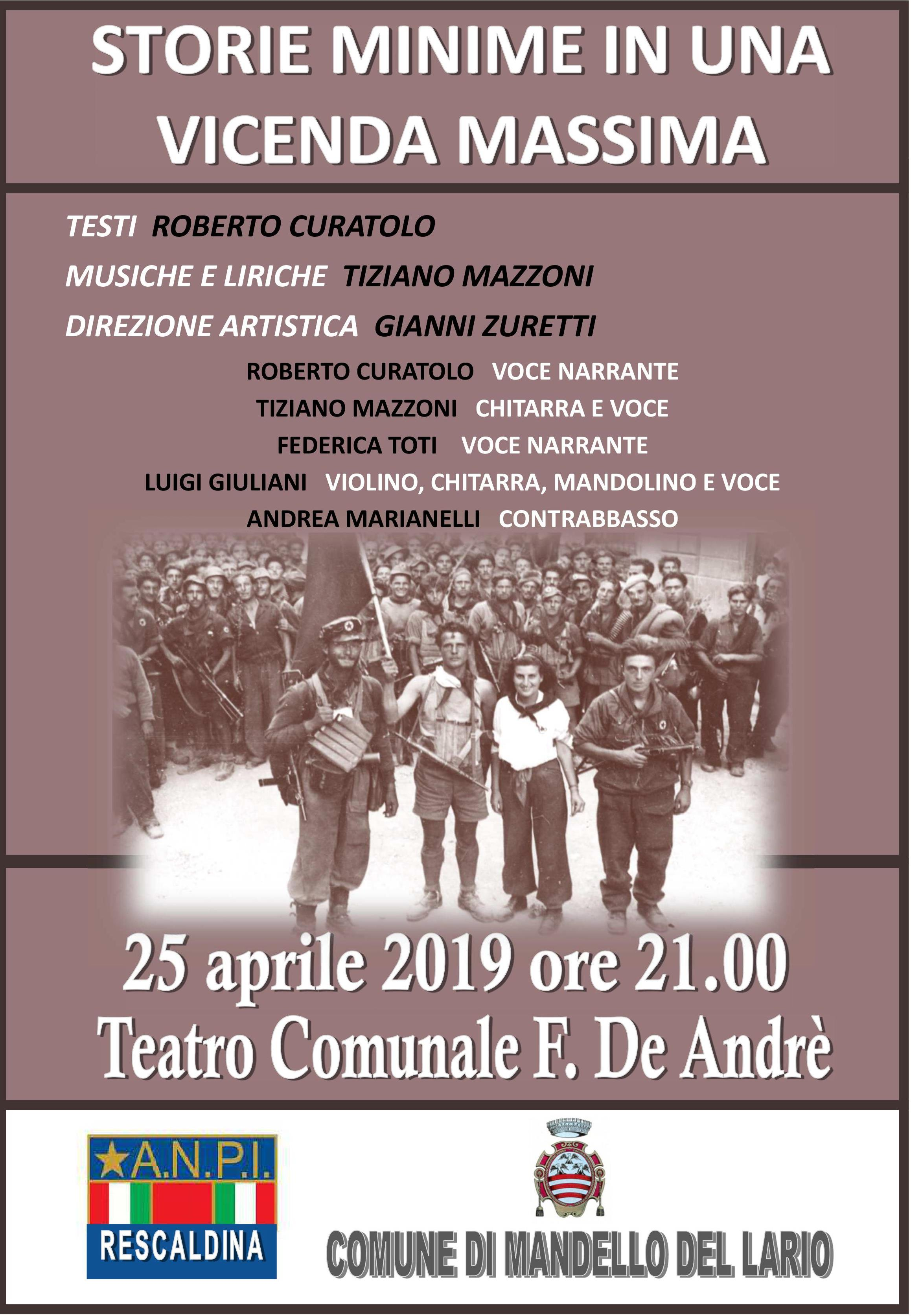 Teatro per l'Anniversario della Liberazione a Mandello del Lario