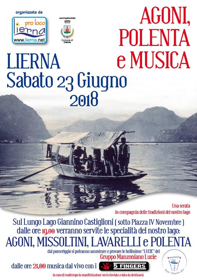 Agoni Polenta e musica a Lierna