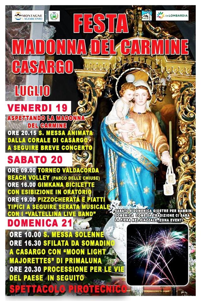 Festa Madonna del Carmine a Casargo