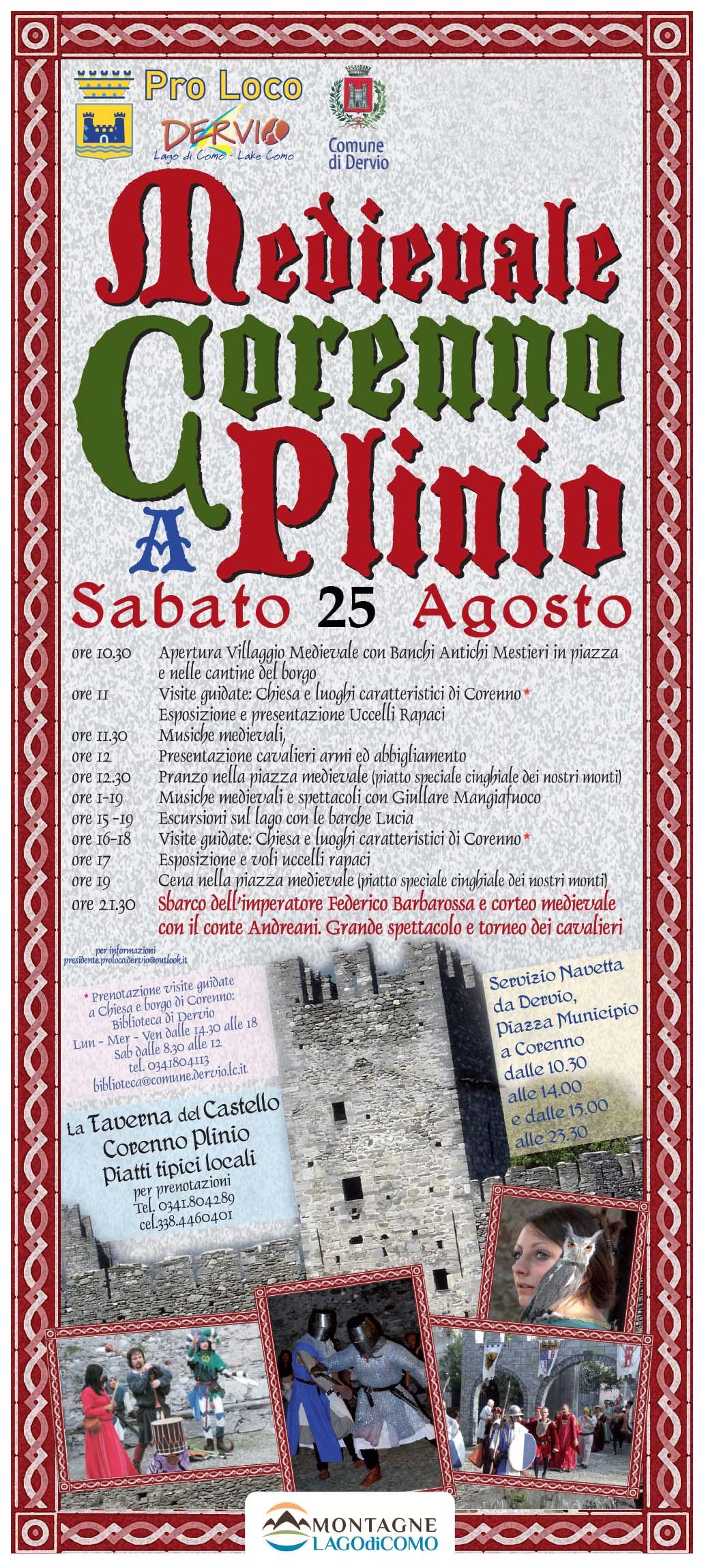 Medioevale a Corenno Plinio – POSTICIPATO A SABATO 1 SETTEMBRE