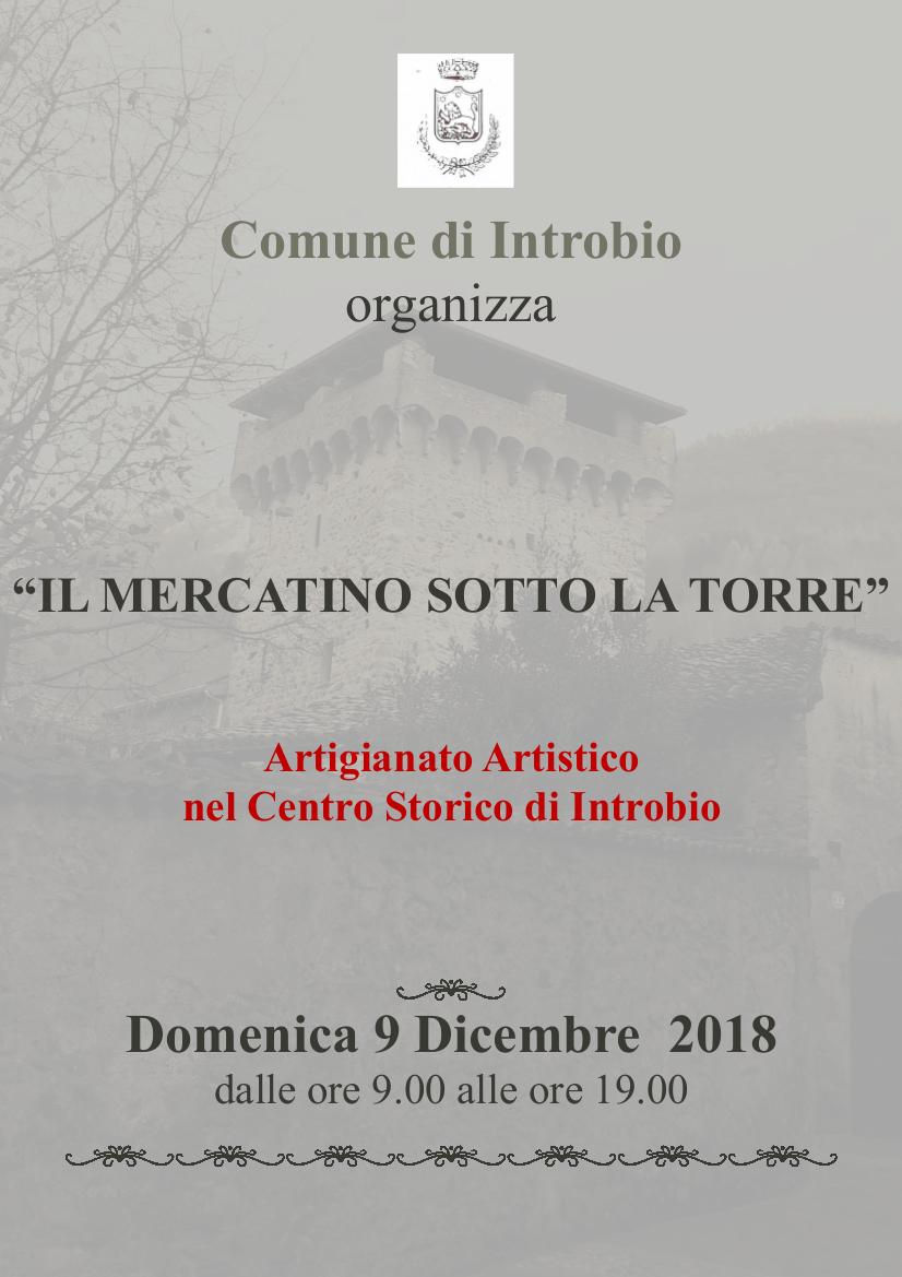 Mercatino sotto la torre a Introbio
