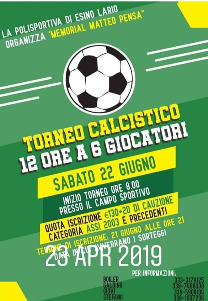 Torneo di calcio 12 ore a Esino Lario