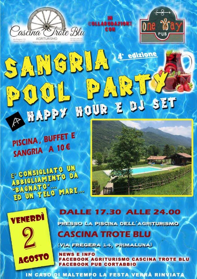 Sangria Pool Party a Cascina Trote Blu