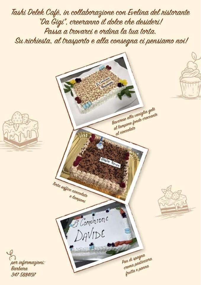 Torte personalizzate al Bar Tashi Delek Cafè