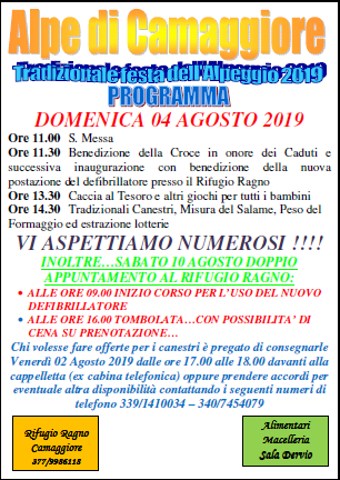 Festa all'Alpe di Camaggiore