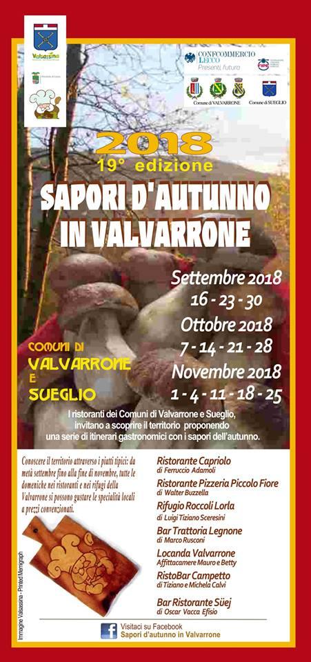 Sapori d'autunno in Valvarrone