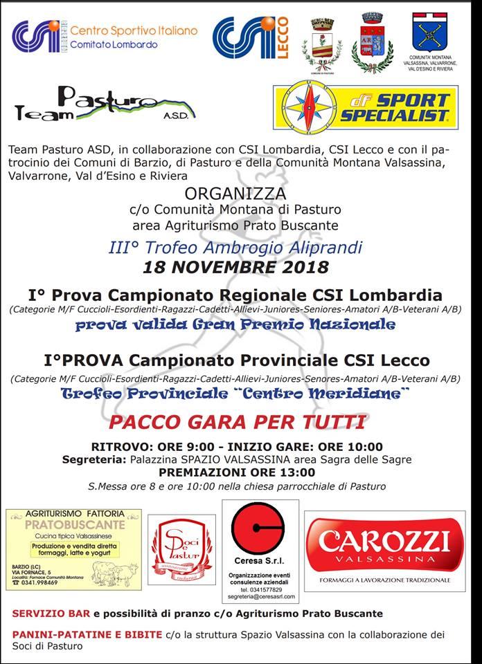 Trofeo Ambrogio Aliprandi a Barzio
