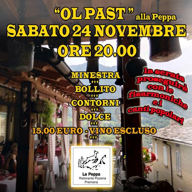 Past al Ristorante La Peppa