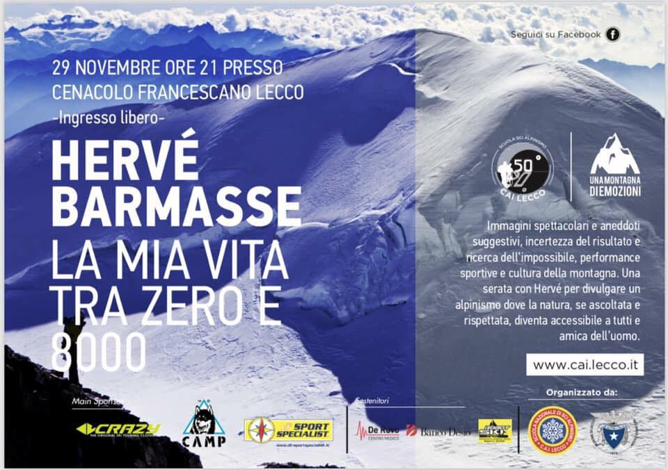 Serata con Hervè Barmasse a Lecco