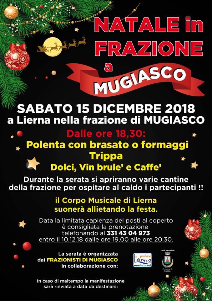 Festa di Natale a Mugiasco di Lierna