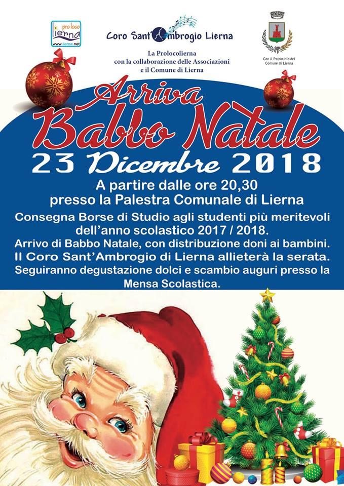 Descrizione Di Babbo Natale Per Bambini.Arriva Babbo Natale A Lierna Lago Di Como E Valsassina