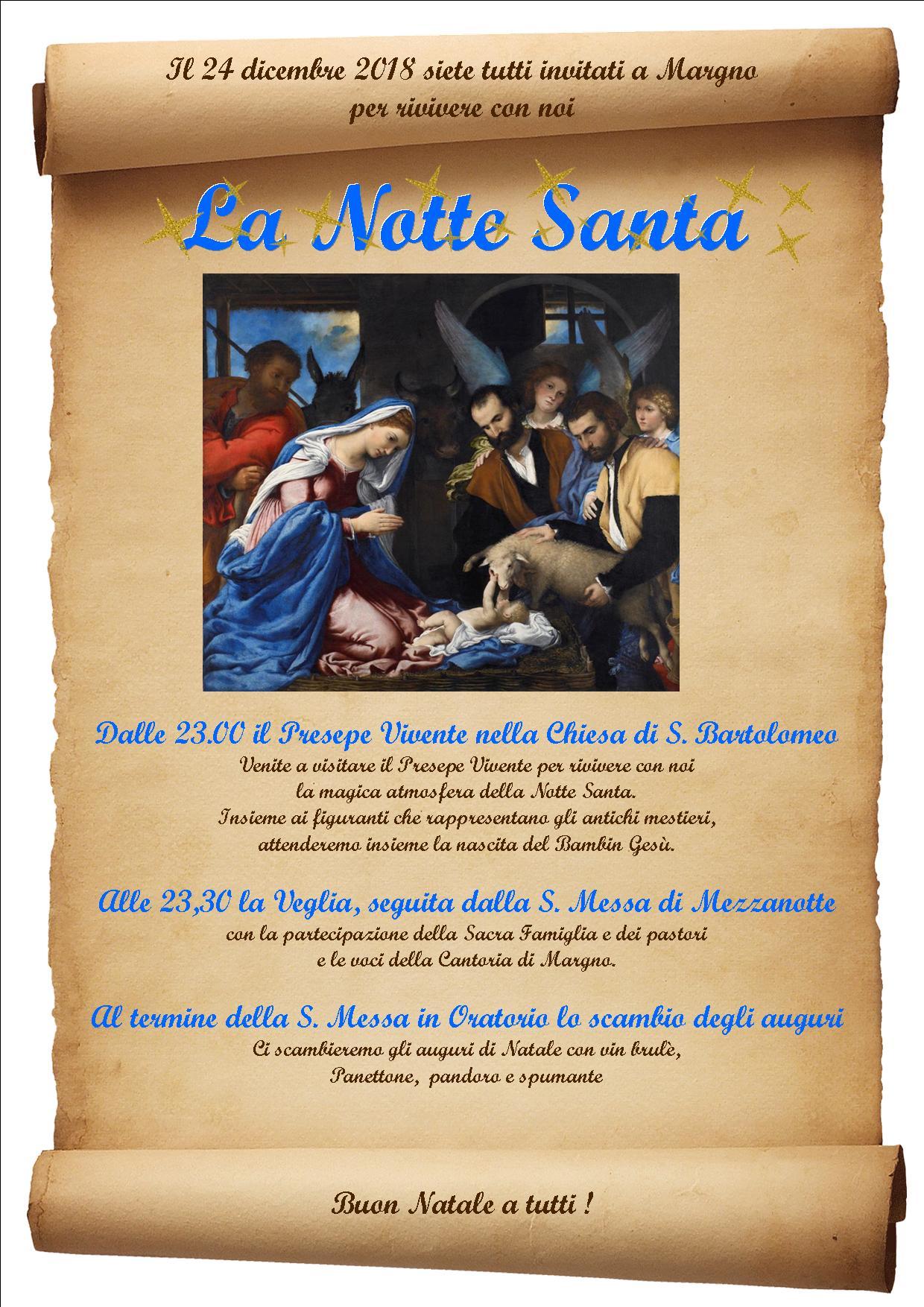 La Notte Santa a Margno
