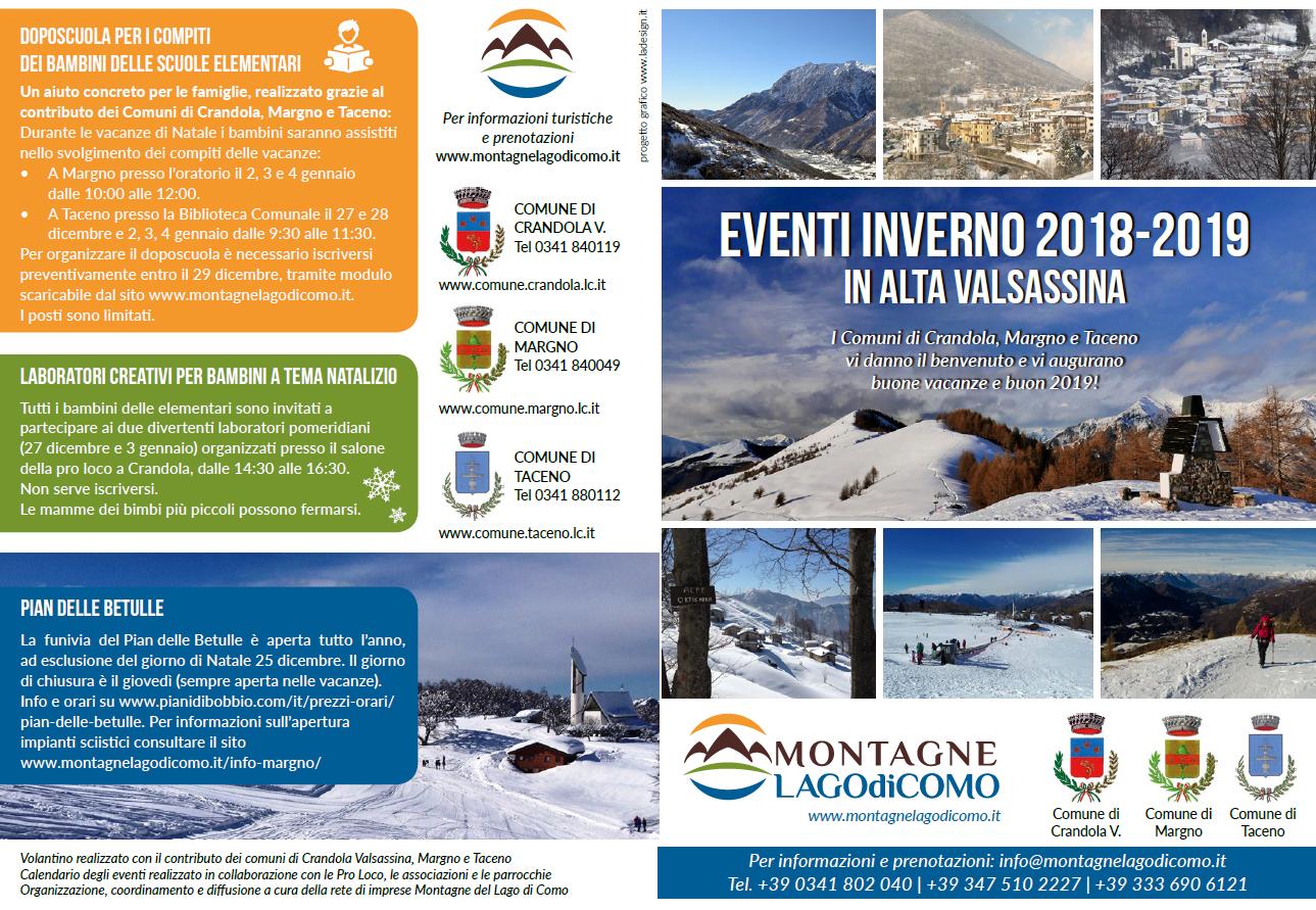 Un inverno 2018-2019 ricco di eventi in Alta Valsassina