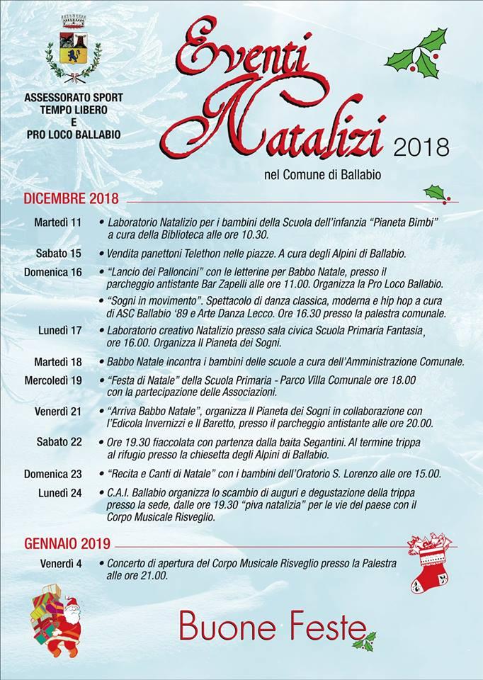 Lancio delle letterine per Babbo Natale a Ballabio