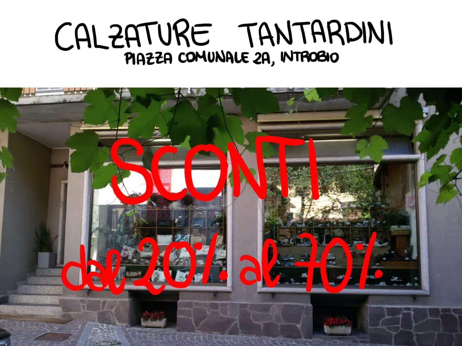 Saldi invernali da Calzature Tantardini a Introbio