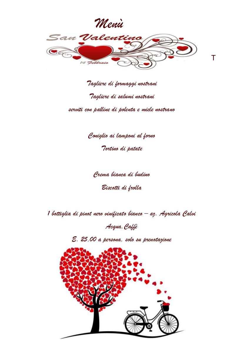 San Valentino all' Agriturismo La Zia Berta
