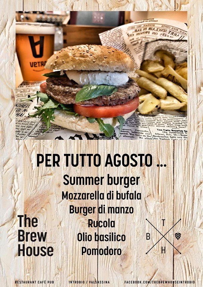 The Brew House Summer Burger