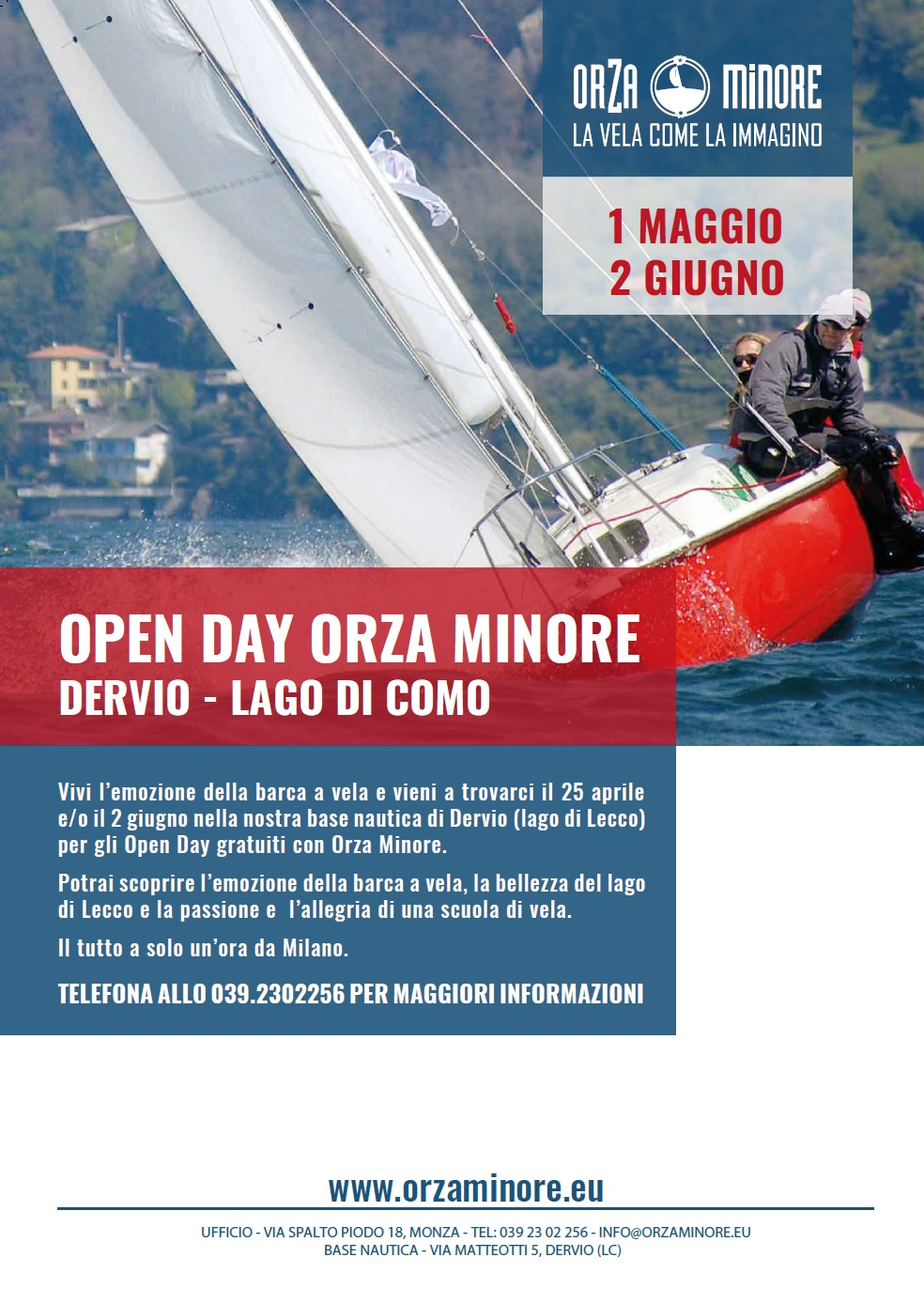 Open Day gratuito all'Orza Minore
