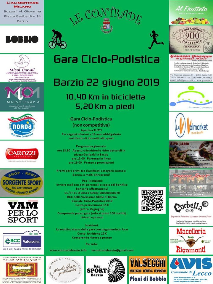 Gara Ciclo-podistica – Le Contrade Barzio