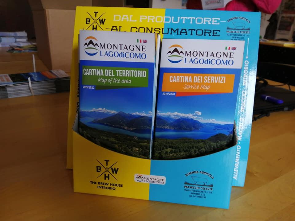 Nuove Cartine 2019 delle Montagne del Lago di Como