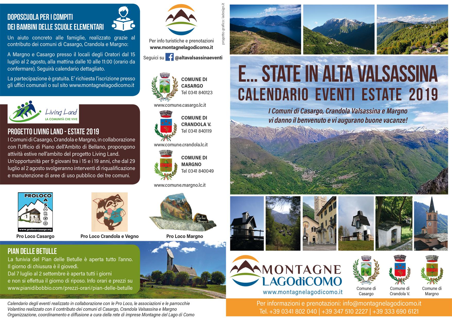 Progetto E... STATE 2019 in Alta Valsassina